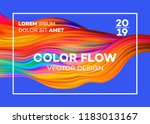 modern colorful flow poster.... | Shutterstock .eps vector #1183013167