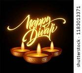 happy diwali festival of lights.... | Shutterstock .eps vector #1183013371