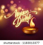 happy diwali festival of lights.... | Shutterstock .eps vector #1183013377