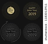 set of new year vector labels.... | Shutterstock .eps vector #1183013911