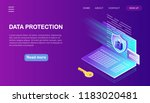 digital data protection ... | Shutterstock .eps vector #1183020481