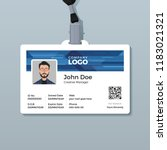 corporate id card template with ...   Shutterstock .eps vector #1183021321