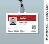corporate id card template with ... | Shutterstock .eps vector #1183021324