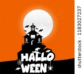 halloween background vectors | Shutterstock .eps vector #1183027237