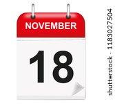 daily single leaf calendar  red ... | Shutterstock .eps vector #1183027504