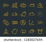 simple set of vector line icons ... | Shutterstock .eps vector #1183027654