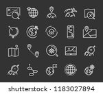 set of world map vector line... | Shutterstock .eps vector #1183027894