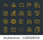 set of checkmark vector line... | Shutterstock .eps vector #1183028224