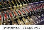 close up of music mixer...   Shutterstock . vector #1183034917