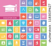 education icon set. very useful ... | Shutterstock .eps vector #1183039627