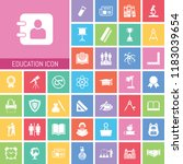 education icon set. very useful ... | Shutterstock .eps vector #1183039654