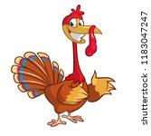 cartoon happy  thanksgiving... | Shutterstock .eps vector #1183047247
