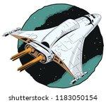 stock illustration. space ship... | Shutterstock .eps vector #1183050154