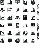 solid black flat icon set pie... | Shutterstock .eps vector #1183050997