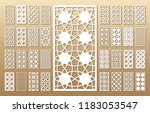 33 vector panels. cutout... | Shutterstock .eps vector #1183053547