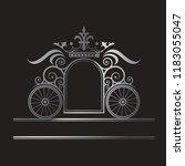 wedding ornamental frame with... | Shutterstock .eps vector #1183055047