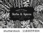 culinary herbs and spices... | Shutterstock .eps vector #1183059304