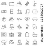 thin line vector icon set  ... | Shutterstock .eps vector #1183062727