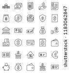 thin line vector icon set  ... | Shutterstock .eps vector #1183062847
