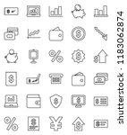 thin line vector icon set  ... | Shutterstock .eps vector #1183062874