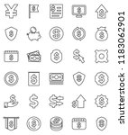 thin line vector icon set  ... | Shutterstock .eps vector #1183062901