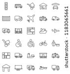 thin line vector icon set  ... | Shutterstock .eps vector #1183065661
