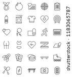 thin line vector icon set  ... | Shutterstock .eps vector #1183065787
