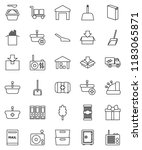thin line vector icon set  ... | Shutterstock .eps vector #1183065871