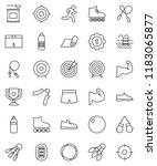 thin line vector icon set  ... | Shutterstock .eps vector #1183065877