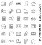 thin line vector icon set  ... | Shutterstock .eps vector #1183066207