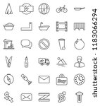 thin line vector icon set  ... | Shutterstock .eps vector #1183066294