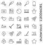 thin line vector icon set  ... | Shutterstock .eps vector #1183066381