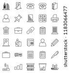 thin line vector icon set  ... | Shutterstock .eps vector #1183066477