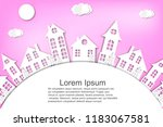 paper city. winter. new year's...   Shutterstock .eps vector #1183067581