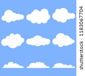 clouds  set of realistic white... | Shutterstock .eps vector #1183067704