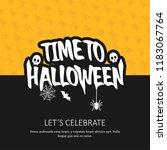 happy halloween invitation card ...   Shutterstock .eps vector #1183067764