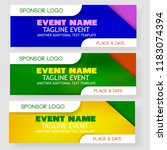 four style blank template event ... | Shutterstock .eps vector #1183074394