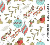 christmas vector seamless... | Shutterstock .eps vector #1183081561