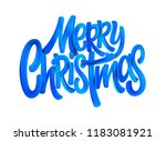 merry christmas acrylic paint... | Shutterstock .eps vector #1183081921