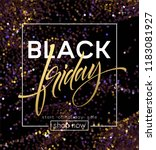 black friday poster vector... | Shutterstock .eps vector #1183081927
