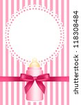 vector pink background with... | Shutterstock .eps vector #118308484