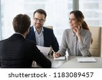 smiling diverse hr managers... | Shutterstock . vector #1183089457