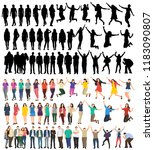 flat style people  set | Shutterstock .eps vector #1183090807