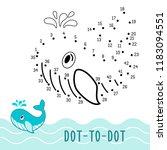 education dot to dot game.... | Shutterstock .eps vector #1183094551