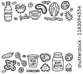 probiotics bacteria  food and... | Shutterstock .eps vector #1183094554