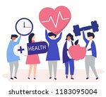 healthy people carrying... | Shutterstock .eps vector #1183095004
