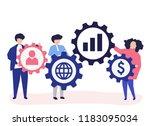 character illustration of...   Shutterstock .eps vector #1183095034