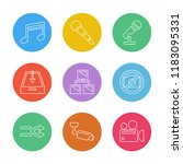 set of 9 icons  for web ... | Shutterstock .eps vector #1183095331