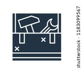 toolbox icon vector isolated on ... | Shutterstock .eps vector #1183099567