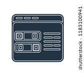 settings icon vector isolated... | Shutterstock .eps vector #1183100941